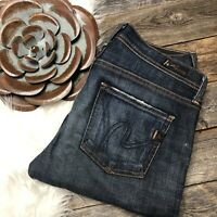 CITIZENS OF HUMANITY 24 Jeans Elson Medium Rise Straight Leg Dark Wash $168 CoH
