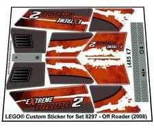 Precut Custom Replacement Stickers voor Lego Set 8297 - Off Roader (2008)