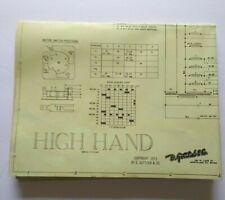 Gottlieb High Hand Pinball Machine Original Wiring Diagram Game Schematic 1973