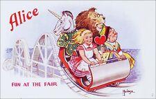 Alice in Wonderland: Roller Coaster, Unicorn, Lion, Queen. Artist Philip Mendoza
