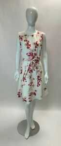 Paulina Floral Print Cotton Dress Coast Wedding Party Size 18 BNWT
