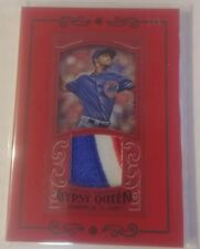 2016 Topps Gypsy Queen CARL EDWARDS JR. Red Mini Logo Patch Relic CUBS 1/5