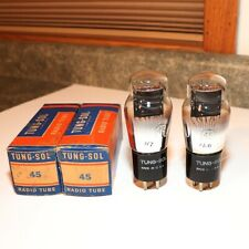 New ListingTung Sol Type 45 Tubes - Matched Date Codes - Closely Balanced