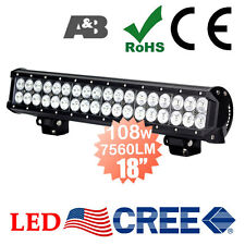 "A&B 18"" 108W CREE LED Light Bar Work Lamp Bright 7560LM 12V 24V Spot/Flood Beam"