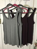 American Eagle Aerie Real Soft Just Add Leggings Tank Tops Lot Of 4 Size L