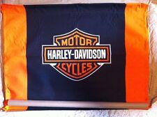 "Harley-Davidson NOS Bar & Shield Canvas Banner  40""W x 28""H"