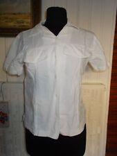 Chemisier coton blanc manches courtes BLANC DU NIL T.1 38/40