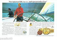 PUBLICITE ADVERTISING 096  1994  Rolex  (2p)  montre Day-Date chrono  Bruce Farr