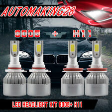 LED Headlight Bulb for 2007-2017 Toyota Camry High Beam 9005+Low Beam H11 Kit US