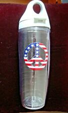 TERVIS TUMBLER US FLAG PEACE SYMBOL 24 OUNCE INSULATED WATER BOTTLE WITH LID