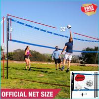Volleyball Net Set Official Size Beach Park Regulation Sport Outdoors Team Ball