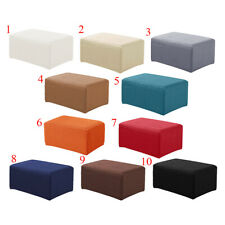 Stretch Storage Ottoman Slipcover Spandex Elastic Footstool Sofa Cover for