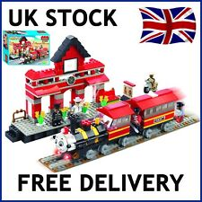 TRAIN THOMAS THE TANK ENGINE STATION CITY CARGO RAILWAY COGO COMPATIBLE 200 PCS