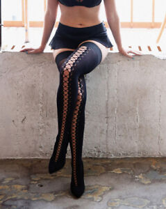 """Erica M """" KAI """" Lace up Hold ups  size 3 med"""