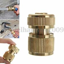 Brass Water Hose Tube Fitting Garden Tap Adaptor Quick Connector Spray Nozzle