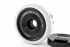 [Top MINT] Canon EF 40mm f/2.8 STM Pancake Lens White From JAPAN #95