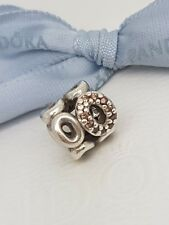 Genuine Pandora Circle of Friends with clear and champagne CZ Charm  - 790445CZ