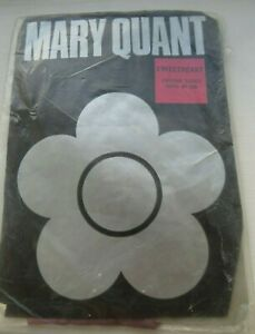 VINTAGE MARY QUANT SWEETHEART PATTERNED TIGHTS NYLON