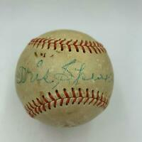 Rare Tris Speaker Single Signed Autographed Baseball With PSA DNA COA