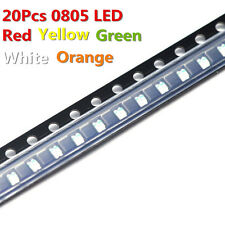 20Pcs 0805 Red Blue Yellow Green White Orange SMD Led Diode Super Bright