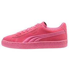 Puma Suede Classic Badge JR Big Kids 362951-05 Shocking Pink Shoes Size 4