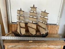 Vintage Fragata Siglo XVIII Wooden sail boat model Needs TLC! Great Project!
