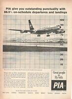 1962 Original Advertising Vintage Pia Pakistan International Airlines Departure