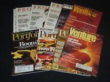 1981-2008 VENTURE PROFIT PORTFOLIO MAGAZINE LOT OF 10 - GREAT COVERS - PB 258