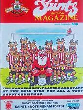 Southampton v Nottingham Forest 20/12/1985 Canon League Division One MINT