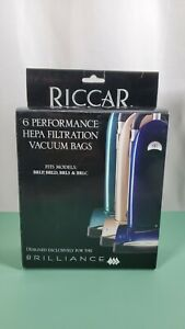 Genuine Riccar Brilliance HEPA Filtration Vacuum Bags (6 pack)