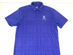 Under Armour Mens Loose Heat Gear Short Sleeve Purple TPC Las Vegas Logo Size M