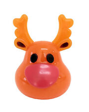 Dog Christmas Flashing Reindeer Squeaky Chew Toy 11cm!  Play in Dark Evenings!