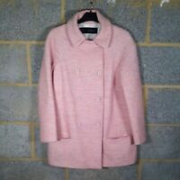 Zara Baby Pink Wool blend Coat Size M/UK 12 very nice condition