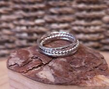 Handmade Set of 3 Sterling Silver Stacking Rings by Rock and Feather Jewellery
