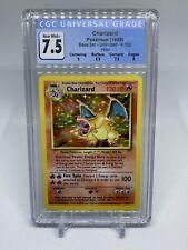 1999 Pokemon Base Unlimited Charizard Holo 4/102 CGC 7.5