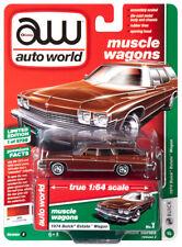2019 AUTO WORLD 1:64 *PREMIUM 2B* Cinnamon 1974 Buick Estate Station Wagon *NIP*