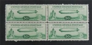 nystamps US Air Mail Block Stamp # C18 Mint OG H/NH(2) $270 Block 4 S17y932