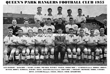 QUEEN'S PARK RANGERS F.C.TEAM PRINT 1955 (COLGAN / LONGBOTTOM / WOODS)