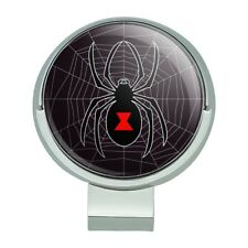 Black Widow Spider on Web Golf Hat Clip With Magnetic Ball Marker