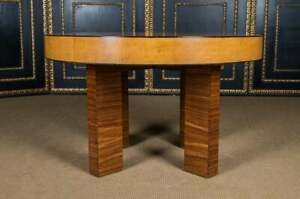 French Art Deco Table Exotic Rosewood Veneer Extendable