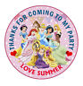 """30 Personalised Disney Princess 50mm 2"""" Party Stickers thank you label"""