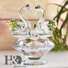 Cute Animal Swan Crystal Glass Figurine Ornaments For Mother & Lady Gift Decor