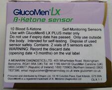 GLUCOMEN LX sensor-x10 tiras de pruebas Cetona De Sangre-Menarini Diagnósticos-Nuevo