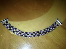 HUGE STERLING SILVER MARILYN & Co LADIES BRACELET WITH COLORED STONES