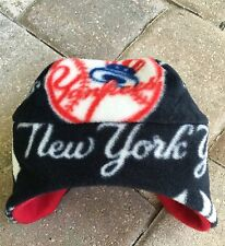 New York Yankees NYY Ear Flap Fleece Hat Sizes Newborn to Children Men Women's
