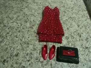 Franklin Mint Dress,Shoes, Purse For FM Princess Diana of Hearts Vinyl Doll