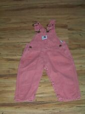 Carhartt Toddler Girl's Overalls Size 18 Months Rose Colored