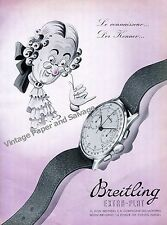 1942 Breitling Watch Company Montbrillant Switzerland Vintage 1940s Swiss Ad