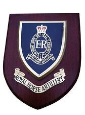 RHA Royal Horse Artillery Wall Plaque UK Hand Made for MOD Regimental Shield