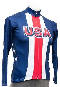 Assos Team USA Long Sleeve Lightweight Jersey Men SMALL Track Road Bike Race MTB